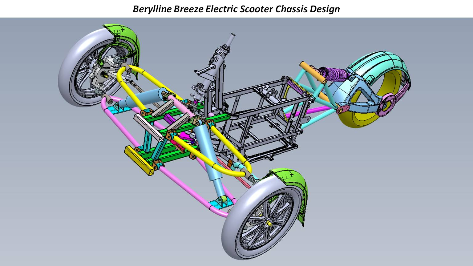 Berylline Breeze Electric Scooter Chassis Design