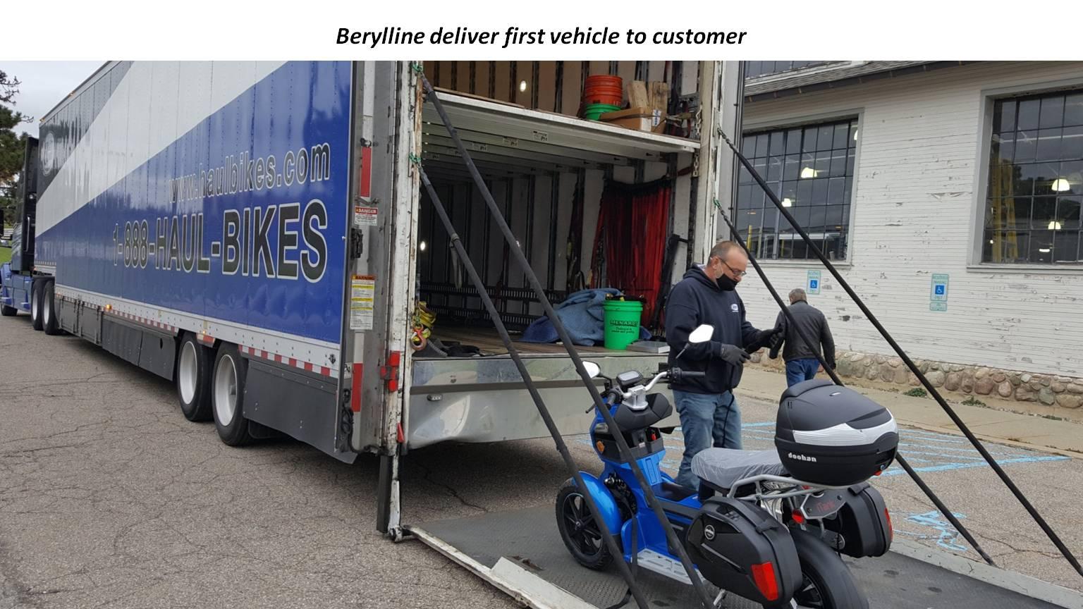 Berylline deliver first vehicle to customer