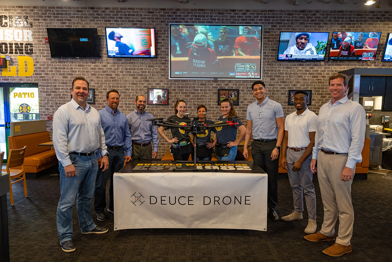 Deuce Drone Team Celebrates Agreement with Buffalo Wild Wings