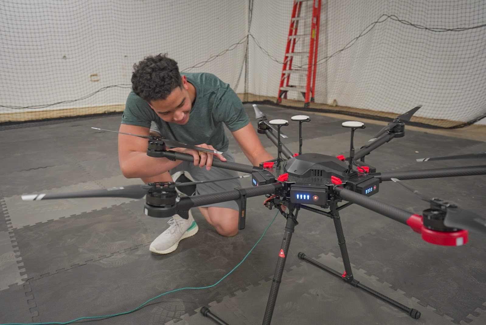 KJ Preparing a Drone Test