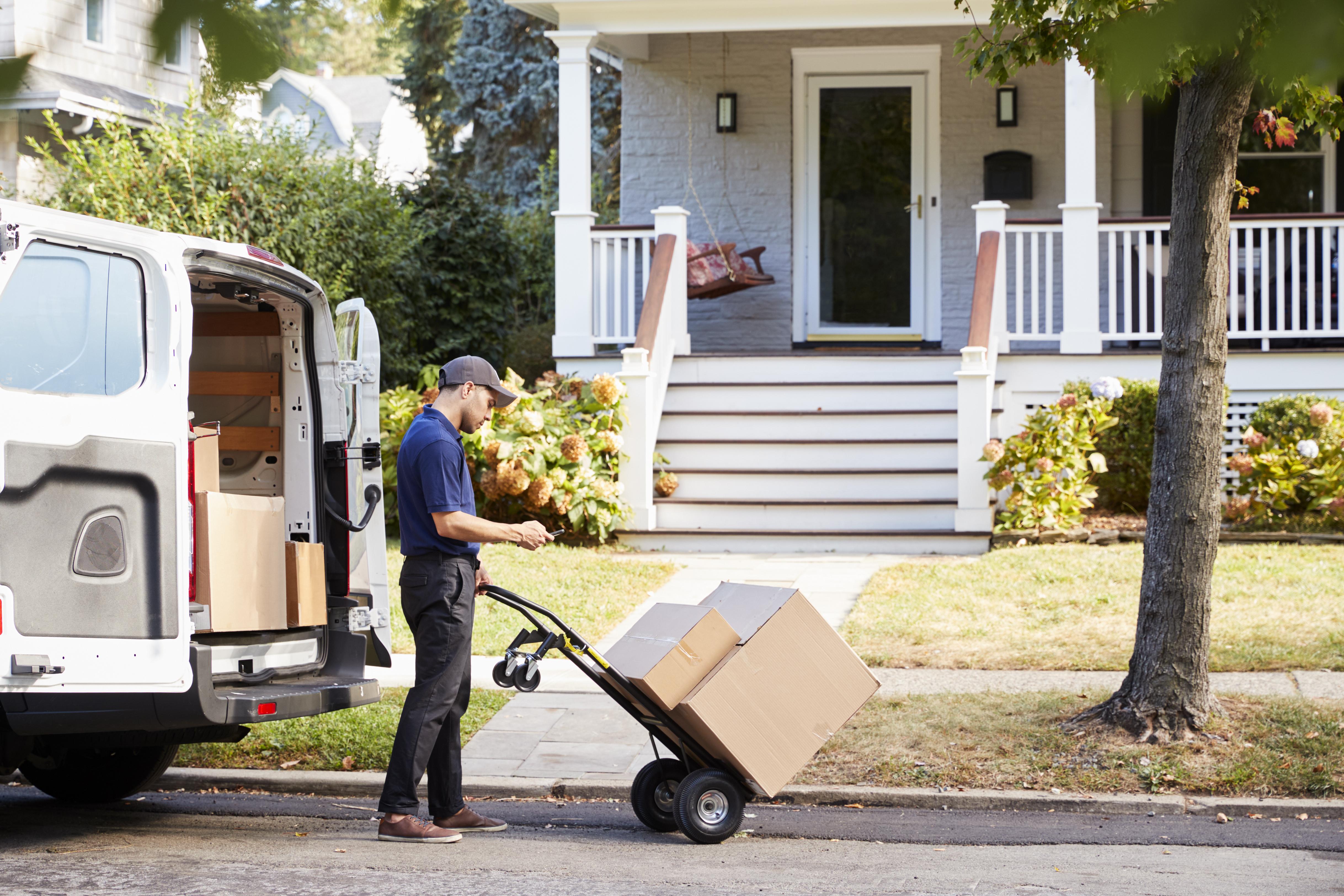 Man delivering package