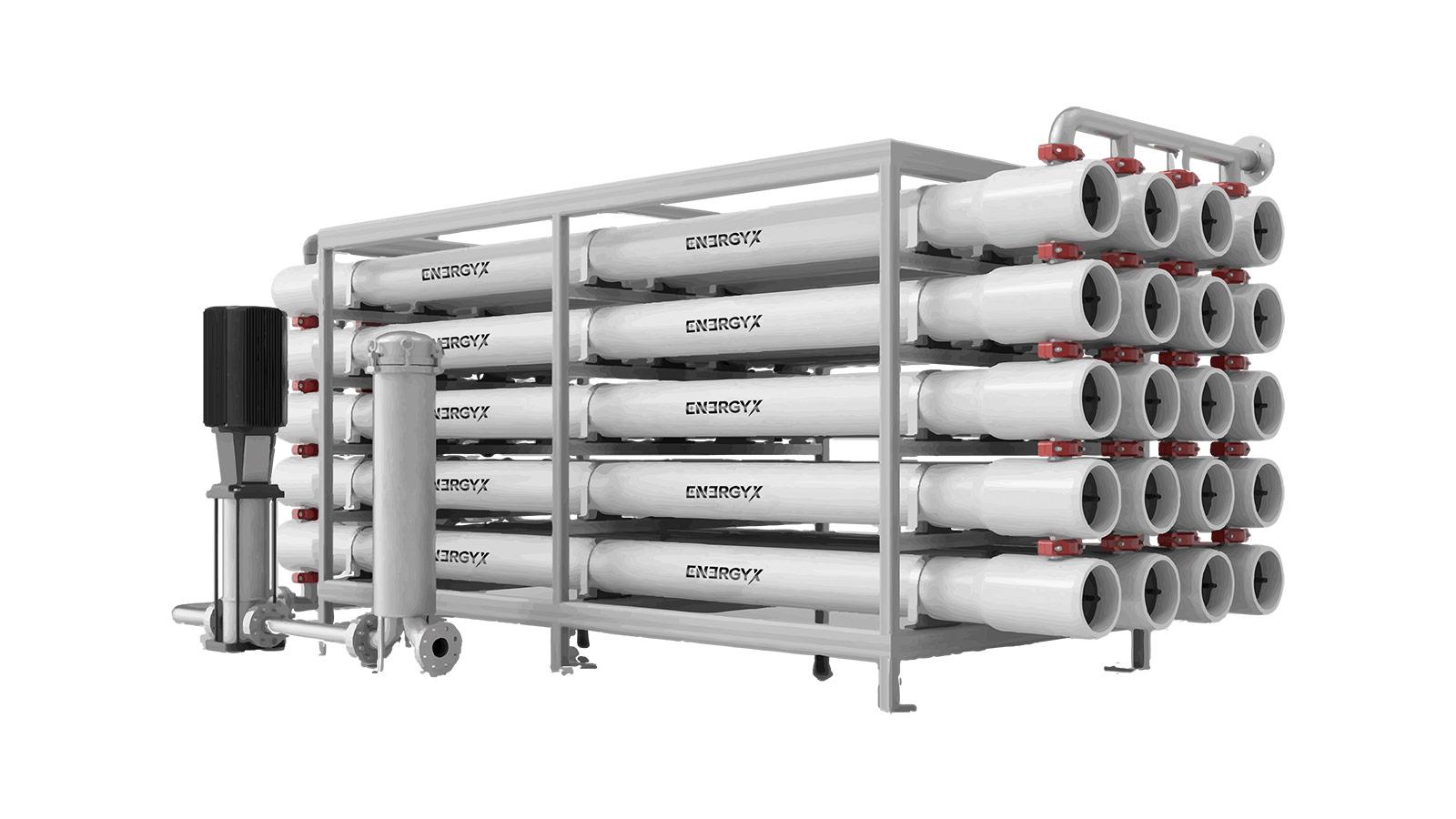 Membrane module rack