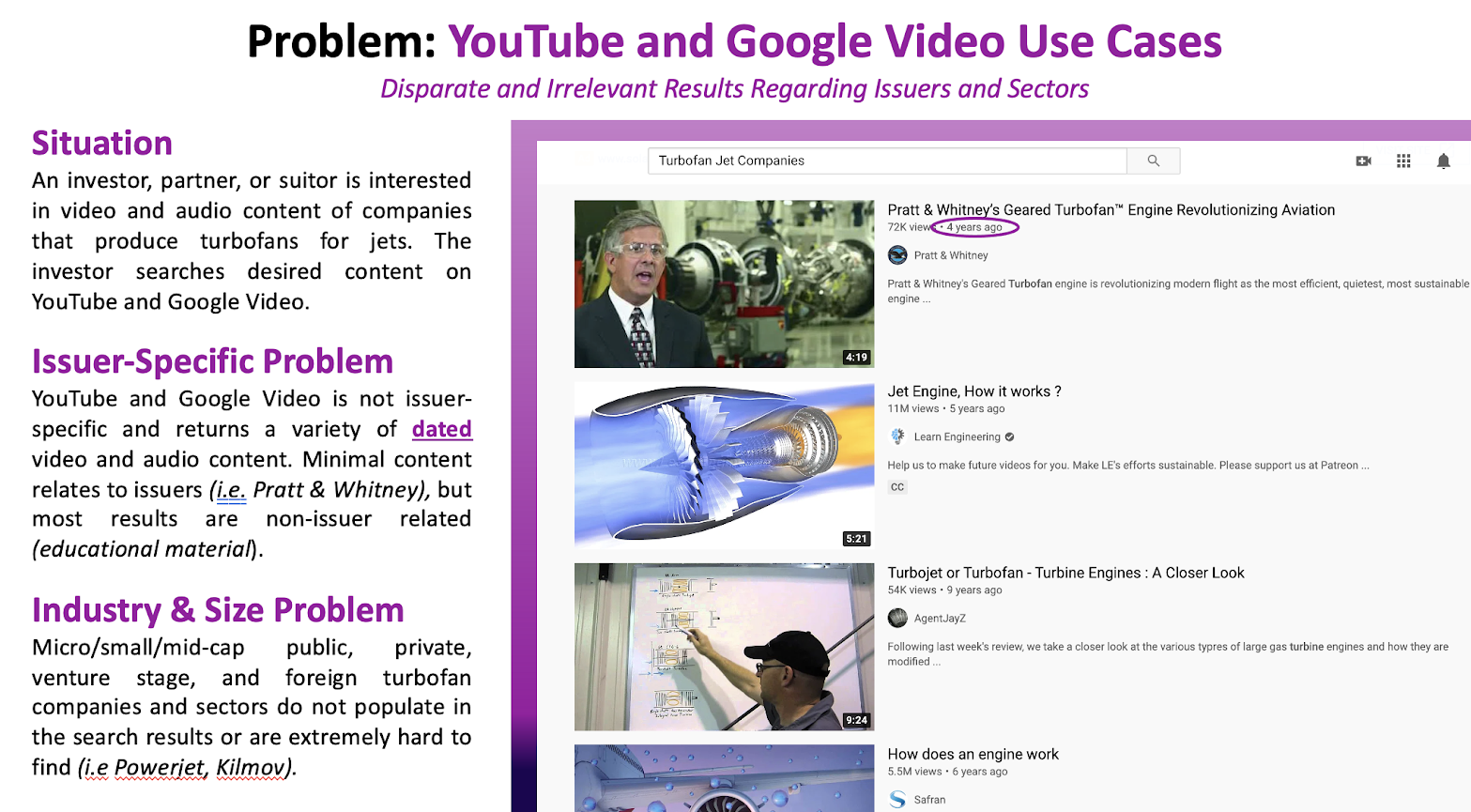 YouTube and Google Video Use Cases