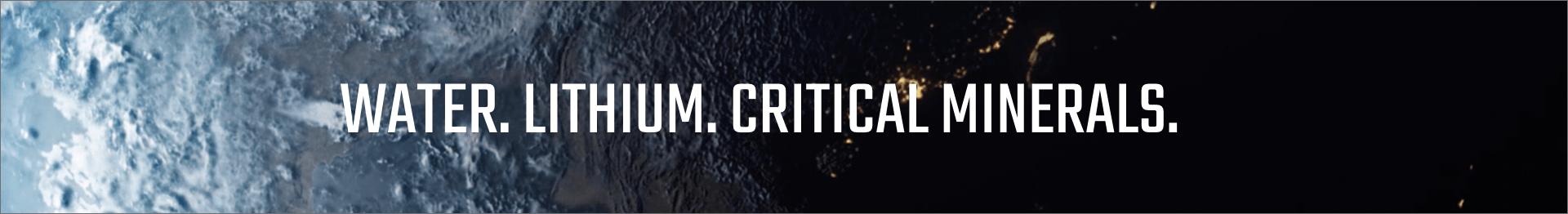 water, lithium, critical minerals