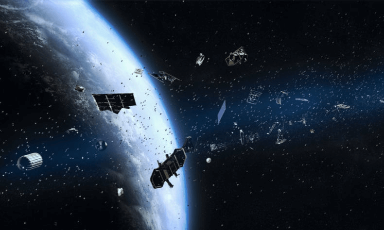 Orbital debris and satellites