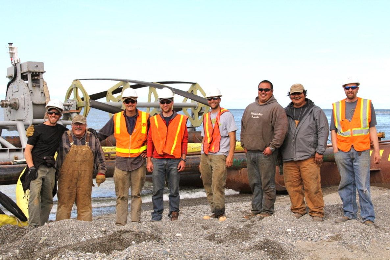 2015 Igiugig, Alaska, RivGen Project Local installation crew