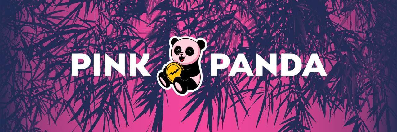 Pink Panda in Trees