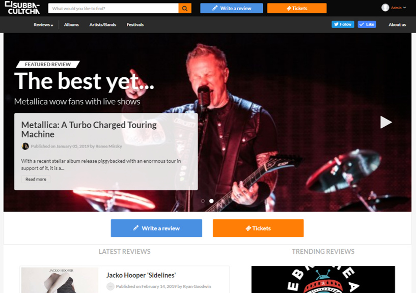 Subba-Cultha.com homepage